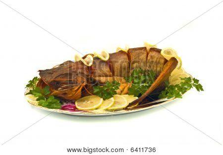 Dinner - Bloated Fresh-water Sheatfish With Lemon