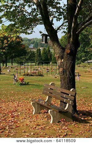 cemetery bench, Hickory, Pennsylvania