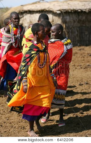 Maasai women in village