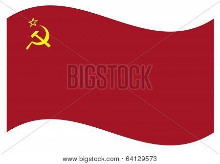 Vector flag. USSR