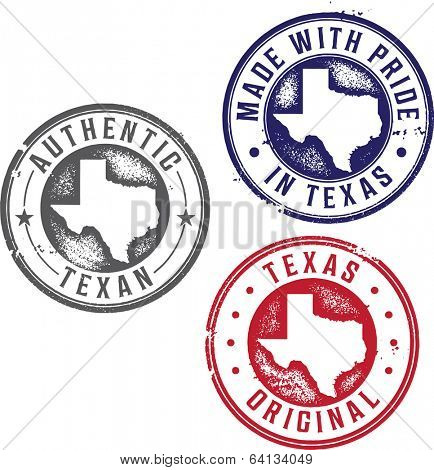 Vintage Made in Texas State Pride Stamps