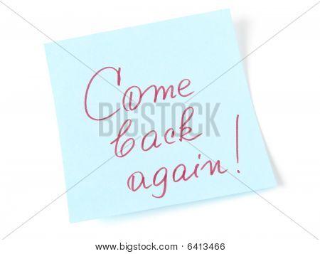 Come Back Again