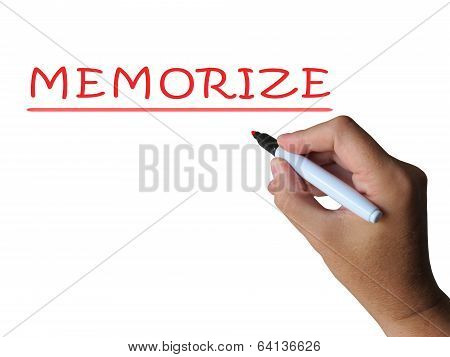 Memorize Word Means Commit Information To Memory