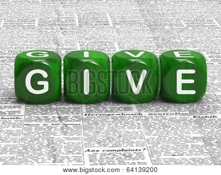 Give Dice Mean Contribute Donate Or Bestow