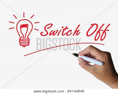 Switch Off Lightbulb Refers To Switching Or Turning