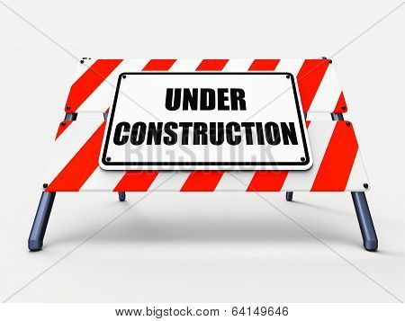 Under Construction Sign Shows Partially Insufficient Construct
