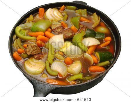 Stew In Iron Skillet