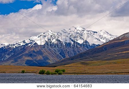 Snowy Mountains On A Spring Day