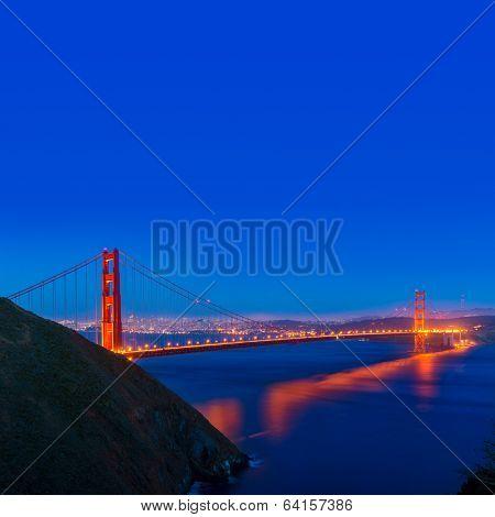 San Francisco Golden Gate Bridge sunset California USA