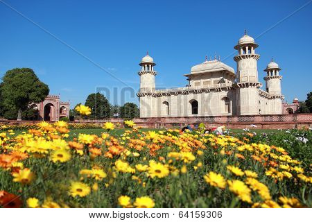 Itmad-ud-daulah's Tomb In Agra, Uttar Pradesh, India.