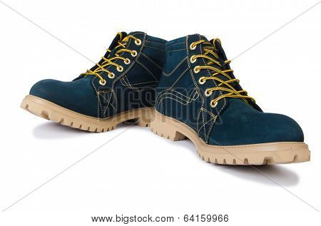 Heavy duty shoes isolated on the white