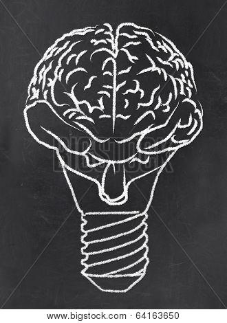 Abstract Brain As A Bulb