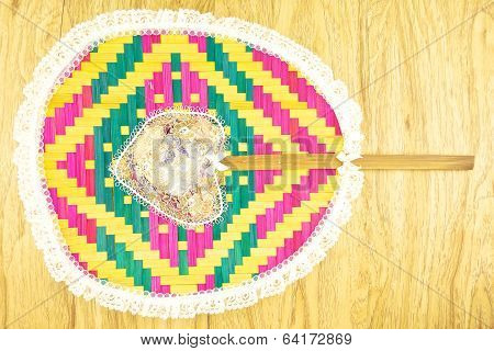 Front Of Colorful Weave Blow With Camphor Aroma