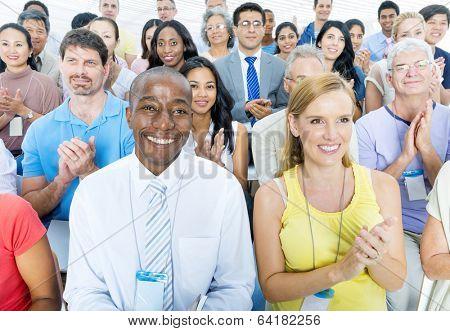 Mature business porple attending seminar