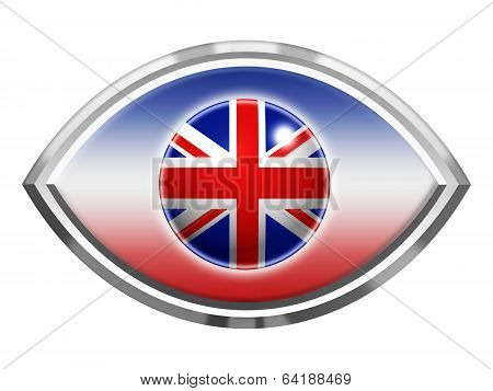 Eye Icon With Union Jack Flag Effect