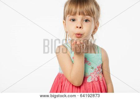 Girl is kissing