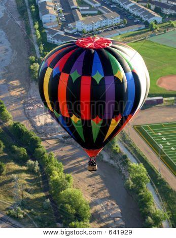 Aerial Rural Hot Air Ballooning Ride