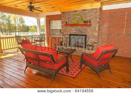Screened Backyard Deck