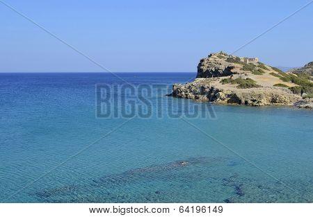 Sea And Ruins In Crete