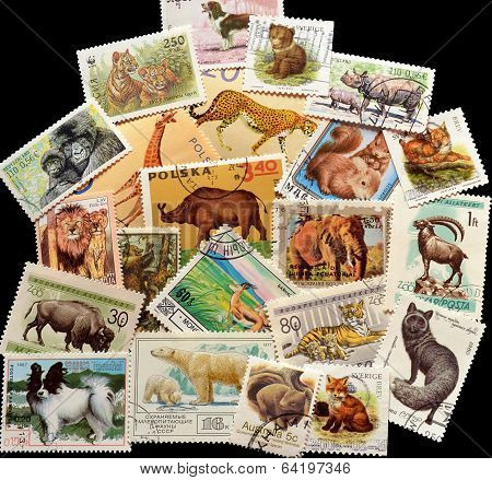 Animals on stamps