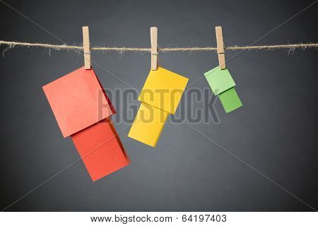Different Colorful Houses On A Line