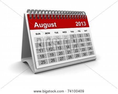 Calendar 2013 - August