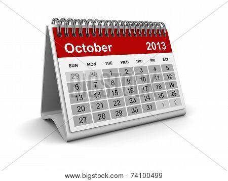 Calendar 2013 - October