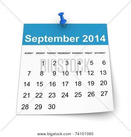 Calendar 2014 - September