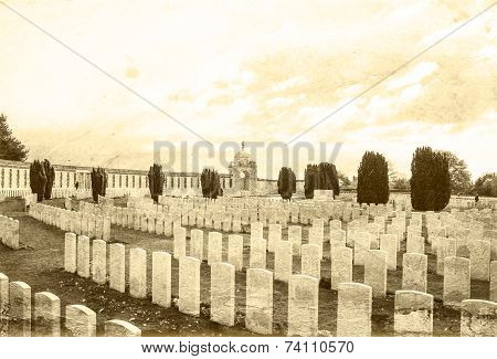 Tyne Cot Great world war 1 flanders fields belgium poster