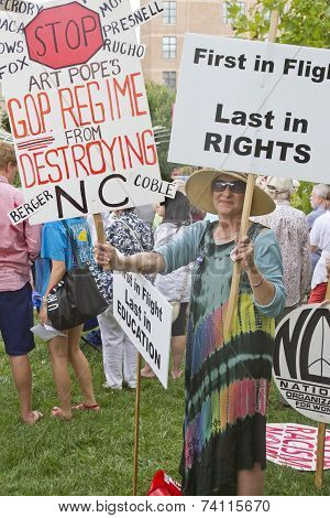 Moral Monday Signs Protesting North Carolina Gop Politics