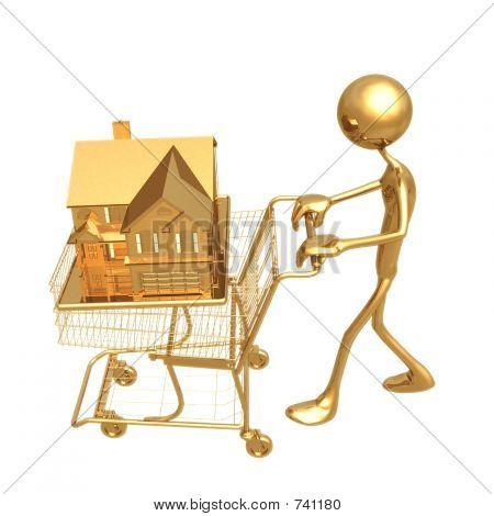 Casa de carro de compras