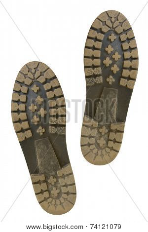 Bottom of shoes, isolated on white background