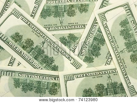 Reverse sides of dollars - business background