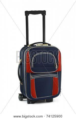 Big travel case isolated on white background