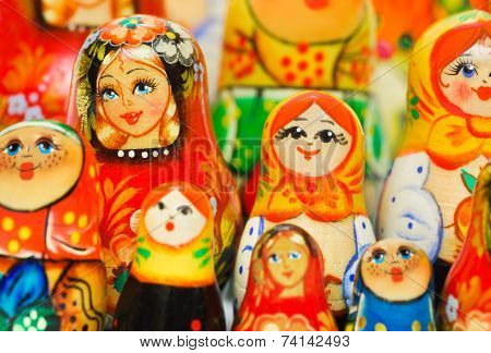 Russian toy matrioska - toy background