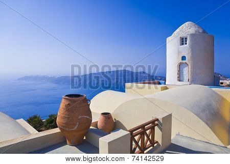 Santorini View (Imerovigli) - vacation background