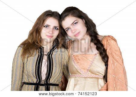 Two Girls Dressed As Princess