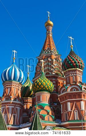 Saint Basil Cathedral on Red square, Moscow (Russia)