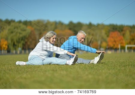 fit senior couple