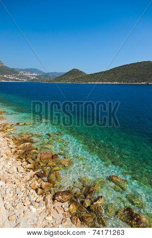 Beach at Kash Turkey - travel background