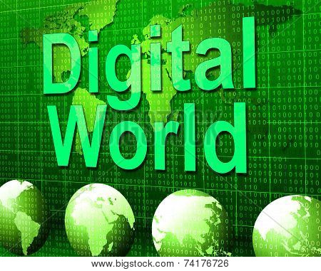 Digital World Shows High Tech And Data