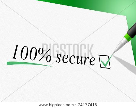 Hundred Percent Secure Shows Unauthorized Absolute And Encrypt