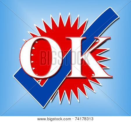 Ok Tick Represents All Right And Affirm