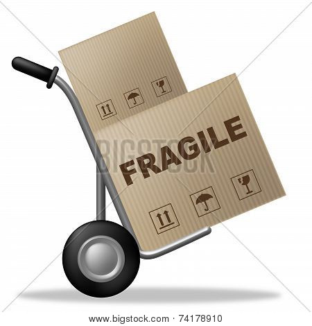 Fragile Box Means Easily Broken And Breakable