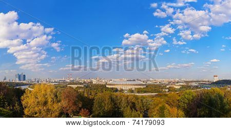 Panorama of Moscow Russia - architecture background