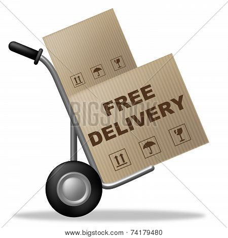 Free Delivery Shows With Our Compliments And Box