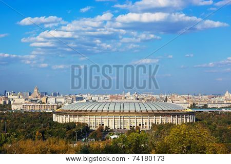 Stadium Luzniki at Moscow Russia - architecture background