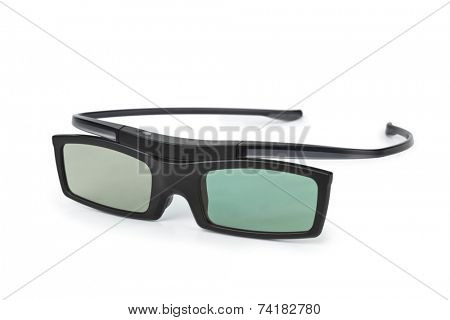 3d glasses isolated on white background