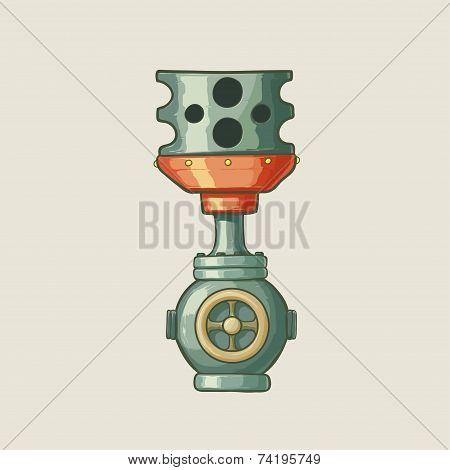 Original illustration of a steampunk styled pipe