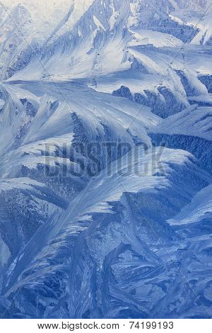 Frosty natural pattern background in winter